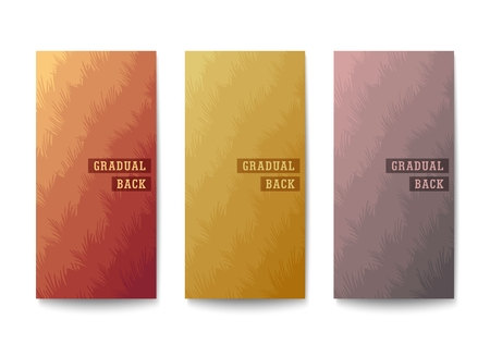 Layered backgrounds design. Layers of different tones with an uneven edge. Muted colors gradation. Vector template