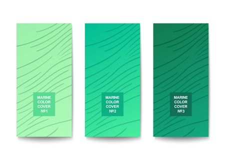 Trendy 3D backdrop with layered material design. Stylized structure with carved lines. Vector template Illustration