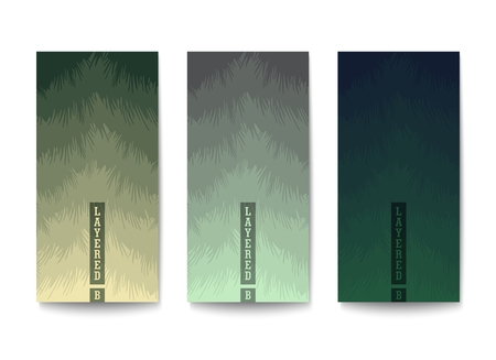 Background with color gradation in muted tones. Overlapping layers with jagged textured edges. Stock Vector - 120719845