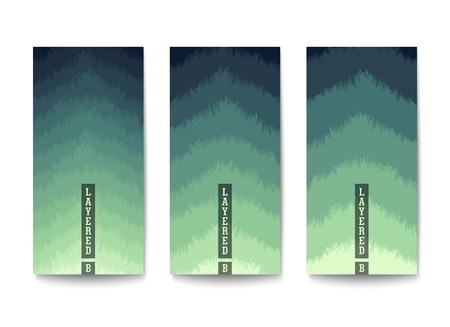 Background with color gradation in muted tones. Overlapping layers with jagged textured edges.
