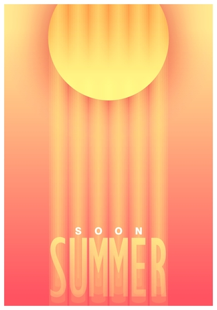 Conceptual poster design. Summer soon. Gradient graphic trendy style. Vector illustration Stock Vector - 123753168