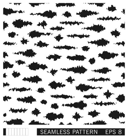Seamless spotted pattern. Vector black and white grunge strokes and smudges. Painterly texture with tribal motifs. Illusztráció