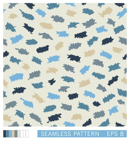Seamless pattern. Random splinters with a grunge jagged edges. Stylized paper cuttings. Vector texture. 矢量图像