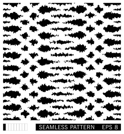 Seamless spotted pattern. Vector lacerated grunge stains and smudges. Painterly texture