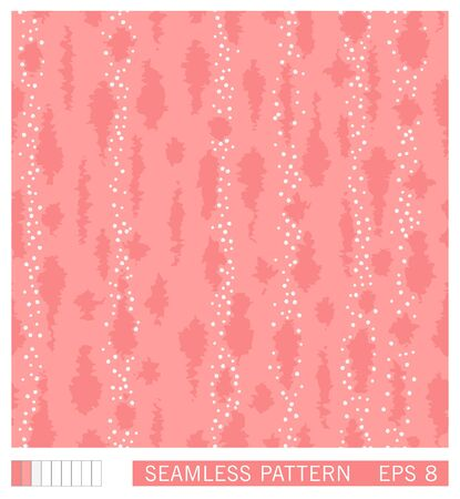 Seamless spotted pattern. Vector colored grunge strokes and smudges. Painterly texture with tribal motifs. 일러스트