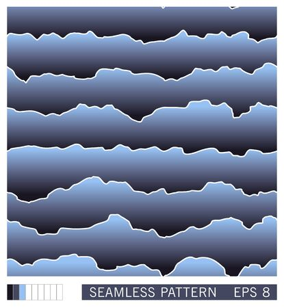 Seamless pattern. Abstract layered texture with shadow effect. Semiflat background. Paper cut layers design. Vector illustration