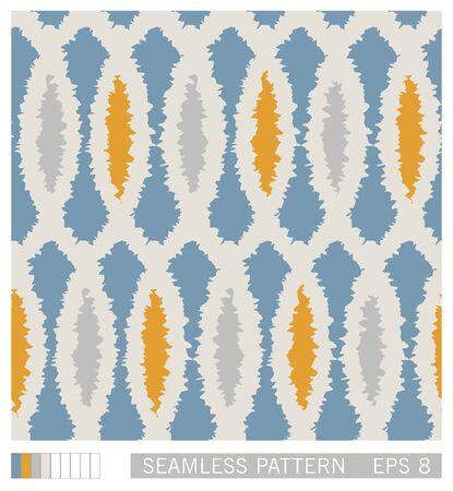 Folk style seamless pattern. Ethno ornament. Grunge technique. Vector texture design.