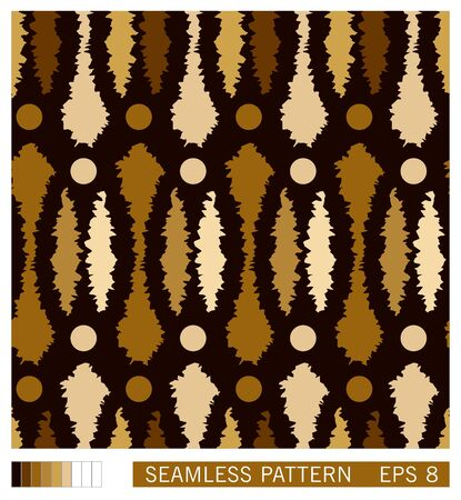 Folk style seamless pattern. Ethno ornament. Grunge technique. Vector texture design.