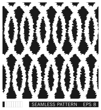 Artistic folk seamless pattern. Ornament of wavy lines intertwined. Hand made grunge style weave stripes. Vector texture design.