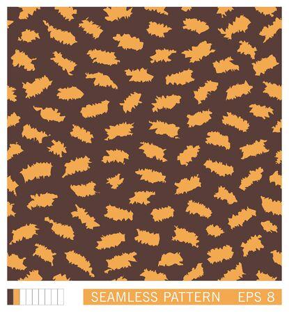 Seamless pattern. Random splinters with a grunge jagged edges. Stylized paper cuttings. Vector texture. Illusztráció