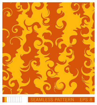 Seamless pattern design. Vector recurring texture. Abstract fluid shapes. Handmade vector pattern. Stock Illustratie