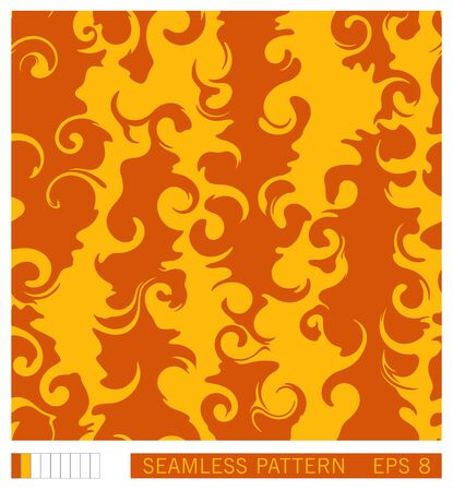 Seamless pattern design. Vector recurring texture. Abstract fluid shapes. Handmade vector pattern. Illustration