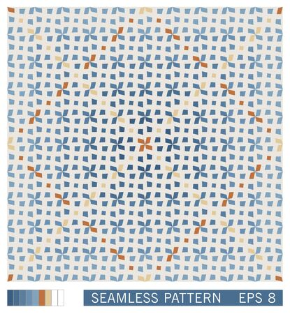 Mediterranean seamless pattern. Oriental traditional design ornament. Stylized vector texture from ethnic ceramic motif. Stock Illustratie