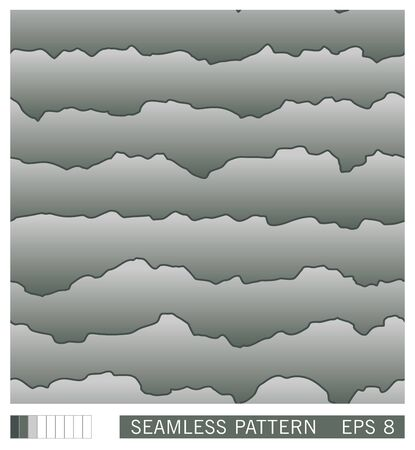 Seamless pattern. Abstract layered texture with shadow effect. 3D imitation. Vector background Stock Illustratie