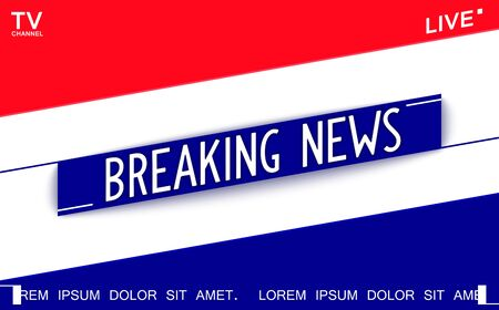 Breaking News. Creative graphic template for news on TV channel. Trendy vector design.