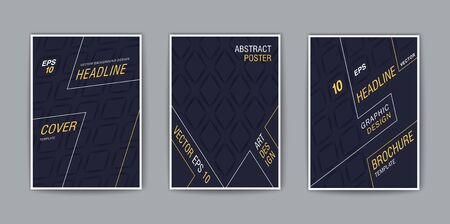 Creative covers. Stylized isometric template for design. Trendy vector background Stock Illustratie