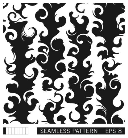 Seamless texture design. Vector recurring template. Freeform fluid shapes. Handmade. Abstract vector pattern.