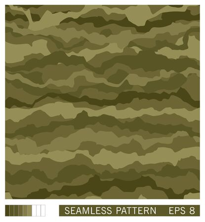 Seamless texture design. Vector recurring template. Military camouflage. Handmade disguise pattern. Stock Illustratie