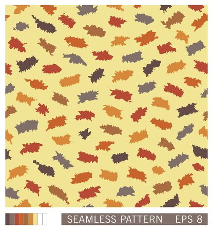 Seamless pattern. Random splinters with a grunge jagged edges. Stylized paper cuttings. Vector texture. Stock Illustratie