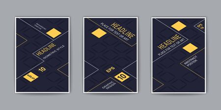 Creative covers. Stylized isometric template for design. Trendy vector background  イラスト・ベクター素材