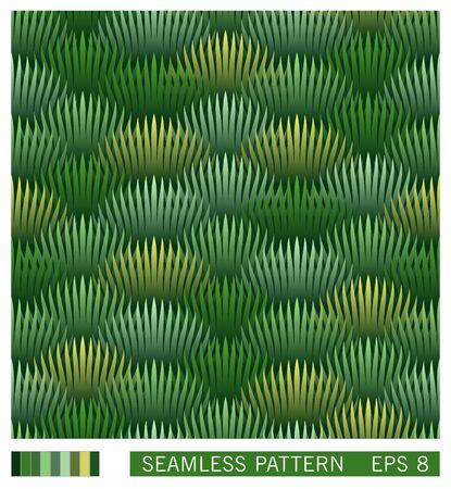 Vector seamless texture. Funny stylized jungle forest. Effect of volumetric layered background. Trendy gradient design. Illusztráció