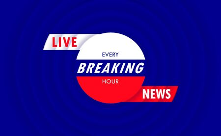 Breaking News. Creative minimal background for TV screen saver. Trendy vector design.