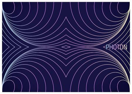Photon. Colorful wavy lines composition. Abstract image of elementary physical particles. Conceptual design the theory of science. Vector illustration 向量圖像