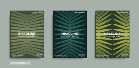 Minimal cover template. Symmetrical composition of color rays. Vector poster design Illustration
