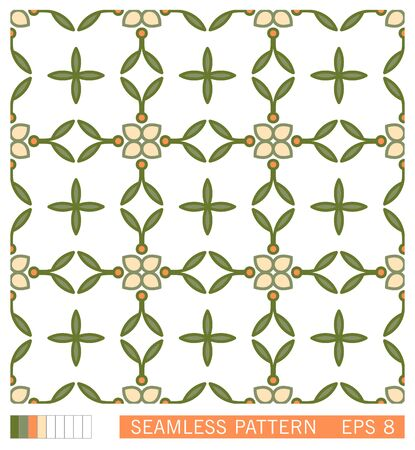 Vector seamless texture. Classic contour line design. Flowers linear pattern. Floral decorative motif. Retro style ornament