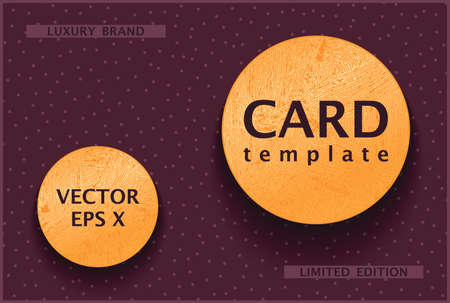 Poster template with two gold labels. A rich decorative concept for the luxury segment. Vector trendy design