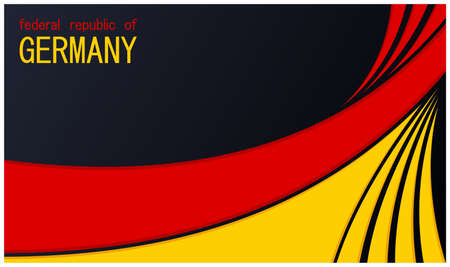 Fedral Republic of Germany. Modern patriotic design with national tricolor flag colors. Trendy minimalistic flat background. Vector template Çizim