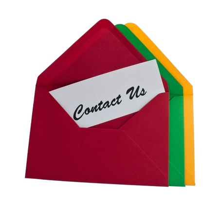 Three envelopes with contact us message Stock Photo - 8464897