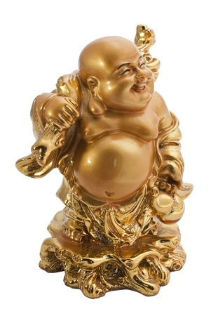 Budda antique symbol isolated on white background Stock Photo - 8486475