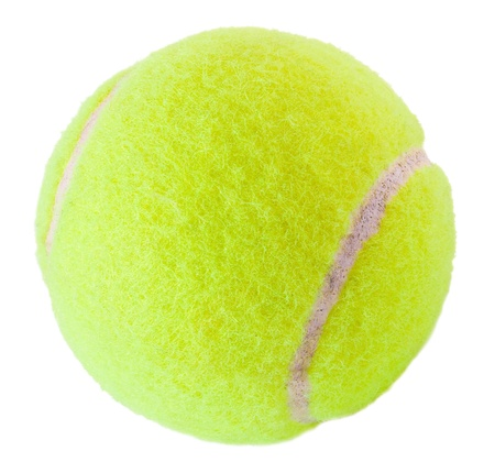 Tennis  ball on the white photo