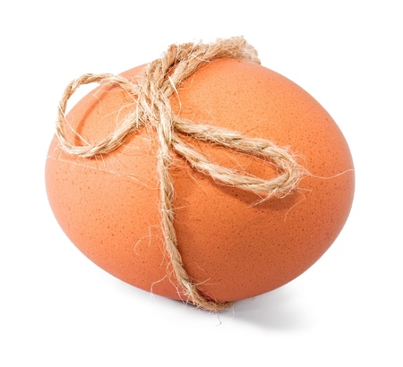 Easter egg with thread bow Stock Photo - 8920214