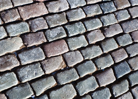 Cobble stone on the road photo