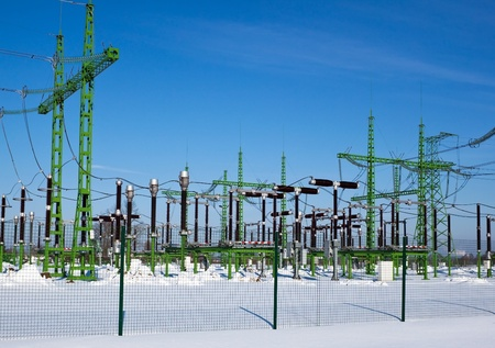 transmission line: Power station generates electricity for nearest villages