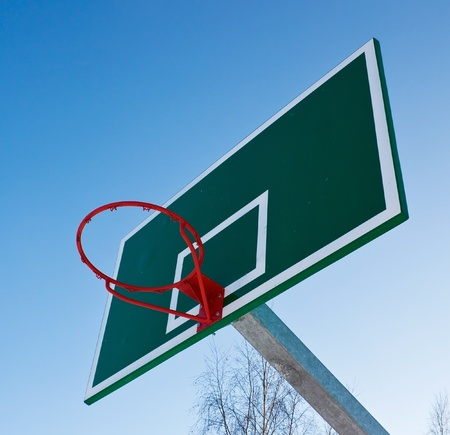 Basketball basket in the open air photo