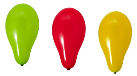 yeallow: Verde, rosso e yeallow baloons Archivio Fotografico