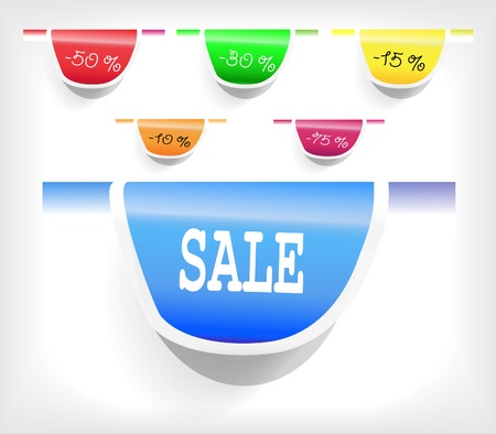 Set of the price labels Vector