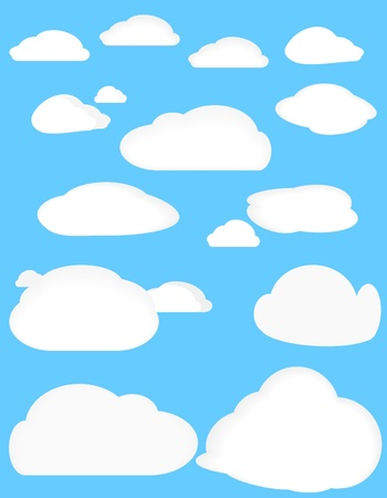 The set of clouds Vector