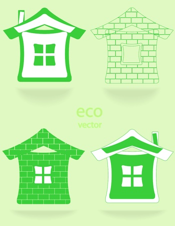 Set of house labels Stock Vector - 9457053