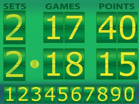 indicator board: Tennis scoreboard