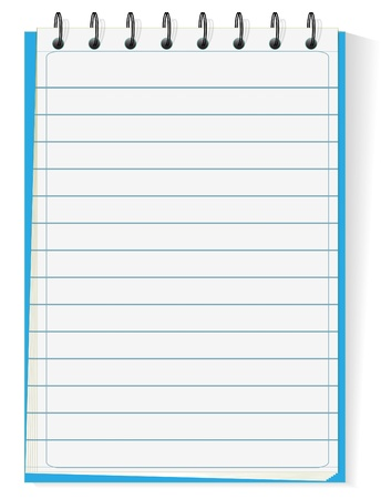 memo pad: Spiral notepad isolated on white
