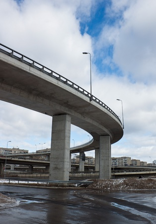 Transport viaduct ower the road photo