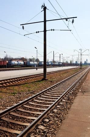 Cargo train near the platform Stock Photo - 9683449