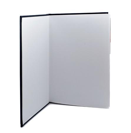 leeres buch: Offen stehende Buch auf wei�em Hintergrund Lizenzfreie Bilder