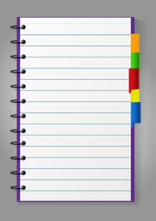 lined paper background: Notepad Illustration