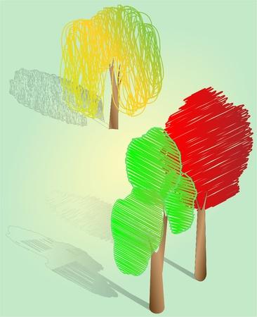 Three types of tree Vector