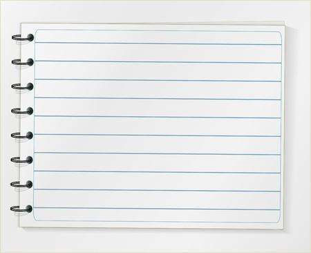 Line notebook sheet Stock Vector - 9764097
